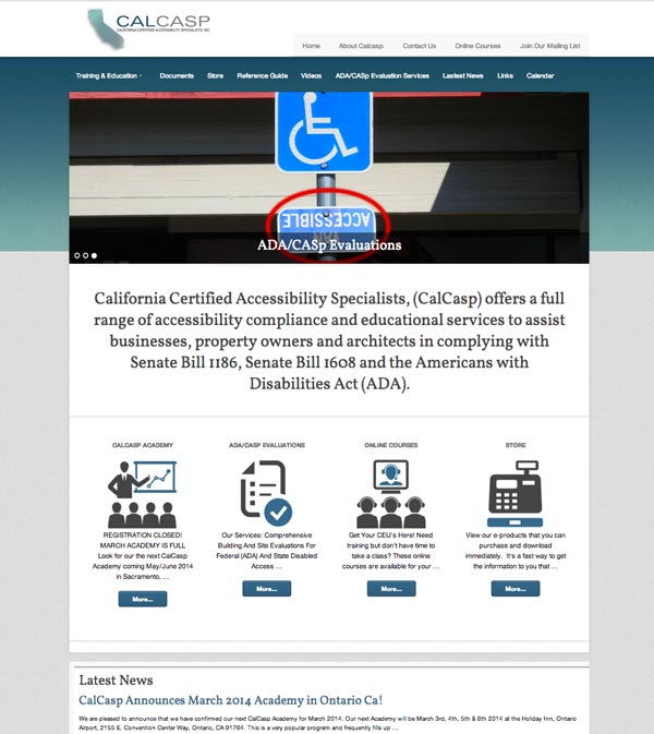 photo of Calcasp.com Website