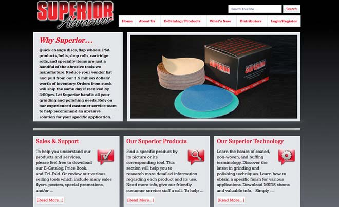 Superior Abrasives Website Redesign